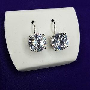 "Sparkling CZ ""Diamond"" Earrings"